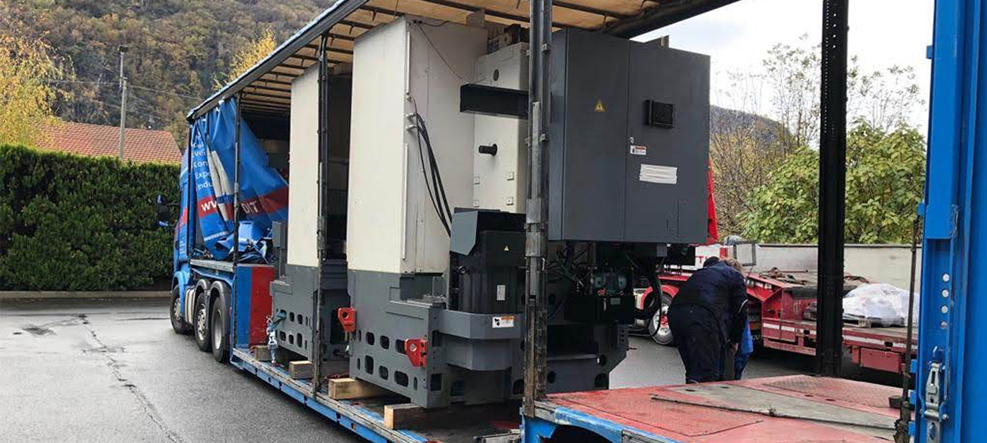 Loading and transport of used cnc machines